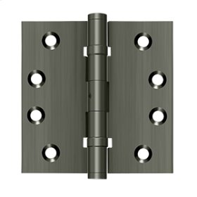 "4""x 4"" Square Hinges, Ball Bearings - Antique Nickel"