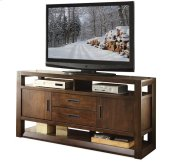 Riata 60-Inch TV Console Warm Walnut finish