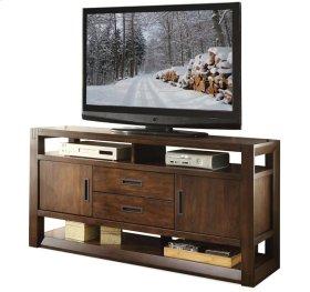 Riata 60-Inch TV Console Warm Walnut finish