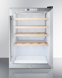Commercially Approved Built-in or Freestanding Compact Wine Cellar With Glass Door, Front Lock, and Digital Thermostat