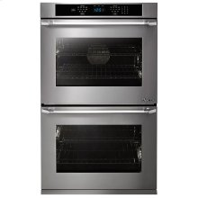 "Distinctive 30"" Double Wall Oven in Stainless Steel with Flush Handle"
