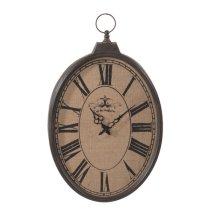 Burlap Pocket Watch Wall Clock.
