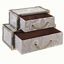 LANGDON PAISLEY STACKED JEWELRY BOX (sold 4 in a case pack)