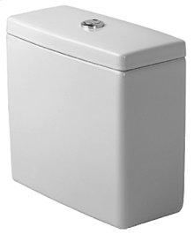 White Cistern, 1.6/.8 Gal, for Bottom Left Supply, With Dual Flush Mechanism, Chrome