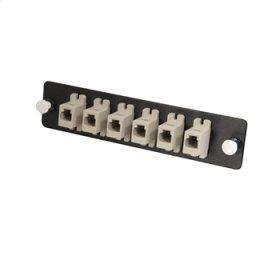 Q-Series™ 6-Pack, MTRJ, MM/SM (12 Fiber Optics) MTRJ Adapter Panel
