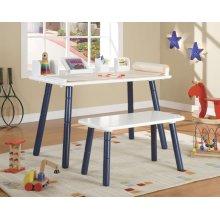 TABLE/CHAIR BLUE/WHITE