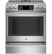 """GE Cafe™ Series 30"""" Slide-In Front Control Induction and Convection Range with Warming Drawer Product Image"""