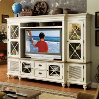 Coventry Two Tone - Console Hutch - Weathered Driftwood/dover White Finish Product Image