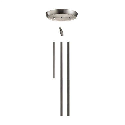 Illuminare Acc Satin Nickel Rod Kit Inc:1-6', 2-12' Extension