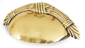 Ribbon & Reed Cup Pull A882-3 - Polished Brass