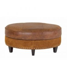 PALERMO SMALL OVAL OTTOMAN