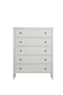 Emerald Home Home Decor 5 Drawer Chest-wht B371-05wht
