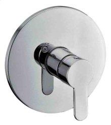 AB3001 Brushed Nickel Shower Valve Mixer with Rounded Lever Handle