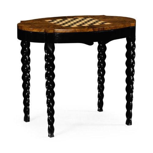 Black Barleytwist Game Table