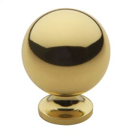Polished Brass Spherical Knob