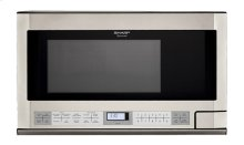 1.5 cu. ft. 1100W Sharp Stainless Steel Over-the-Counter Carousel Microwave Oven (R-1214)