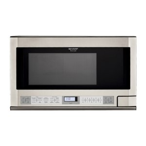 Sharp Appliances1.5 cu. ft. 1100W Sharp Stainless Steel Over-the-Counter Carousel Microwave Oven (R-1214)
