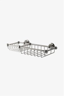 Crystal Wall Mounted Soap and Sponge Basket STYLE: CRBA66