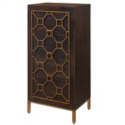 Fairmont Small Cabinet 4 Drawers Antique Gold Legs, Rustic Brown Product Image