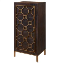 Fairmont Small Cabinet 4 Drawers Antique Gold Legs, Rustic Brown