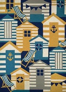 Beach Hut - Navy-Multi 4291/4116