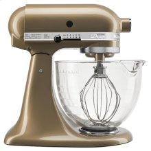 Artisan® Design Series 5 Quart Tilt-Head Stand Mixer with Glass Bowl - Champagne