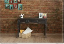 Sofa Table w/ 3 Drawers - Black finish