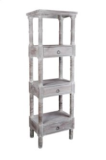 CC-RAK035S-LW  Cottage Distressed Gray Wood Shelves