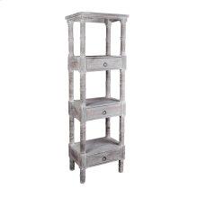 CC-RAK035S-LW  Cottage Distressed Gray Wood Shelves