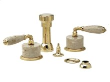 VALENCIA Four Hole Bidet Set K4338D - Polished Brass