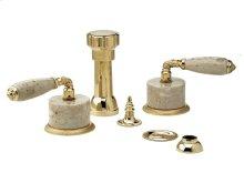 VALENCIA Four Hole Bidet Set K4338D - Polished Brass