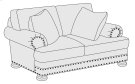 Foster Loveseat in Brandy (703) Product Image