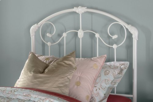 Maddie Twin Bed Set With Link Spring and Pop-up Trundle - Glossy White