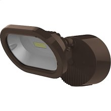 14W LED Single Head Security Light Fixture - Bronze Finish