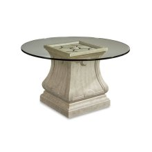 """Arch Salvage Leoni Round Dining 54"""" Glass Top"""