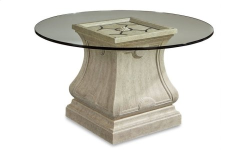 """Arch Salvage Leoni Round Dining 60"""" Glass Top"""