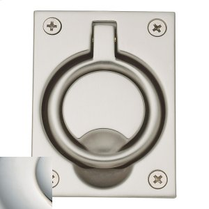 Polished Nickel with Lifetime Finish Flush Ring Pull Product Image