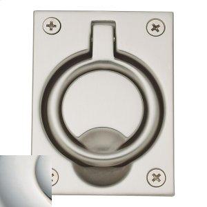 Polished Nickel with Lifetime Finish Flush Ring Pull Product Image