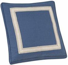 "Custom Decorative Pillows Box Border Picture Frame Tape (21"" x 21"")"