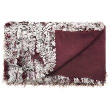 """Fur N9206 Burgandy/ivory 50"""" X 70"""" Throw Blankets"""