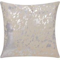 """Couture Nat Hide S6129 White/silver 18"""" X 18"""" Throw Pillow Product Image"""