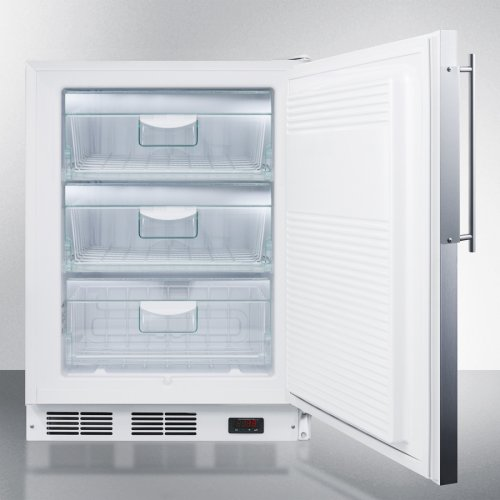 ADA Compliant Built-in Medical All-freezer With Lock, Capable of -25 C Operation; Stainless Steel Door Frame Accepts Slide-in Panels