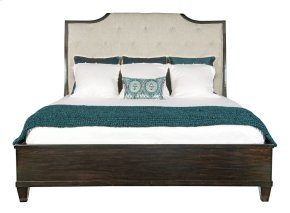 California King-Sized Sutton House Upholstered Sleigh Bed in Sutton House Dark Mink (367)