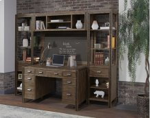 5 PC Wall Desk W/ Bridge, Board & Piers