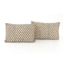 "16x24"" Size Mariposa Diamond Pillow, Set of 2"