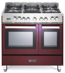"Burgundy 36"" Dual Fuel Double Oven Range - 'N' Series"