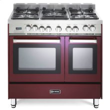 "Burgundy 36"" Dual Fuel Double Oven Range - 'N' Series"