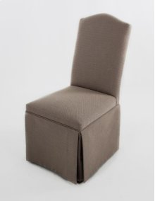 Camel back skirted chair