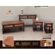 Copper ridge Console Table