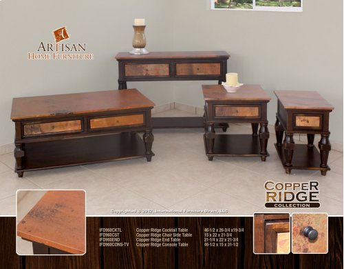 Copper ridge Console Table